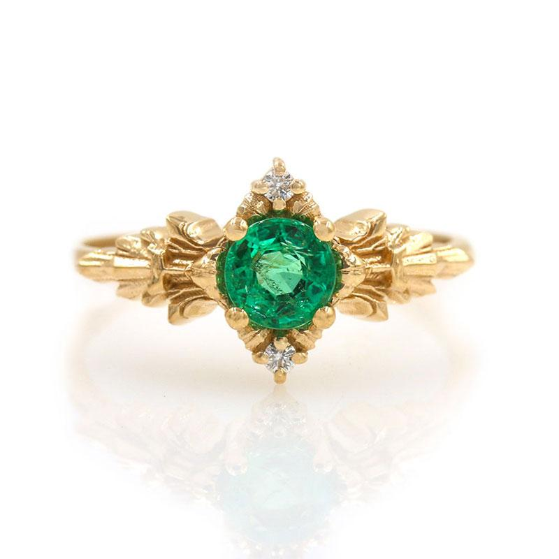 Spirit of the Forest Emerald Ring - LoveAudryRose.com