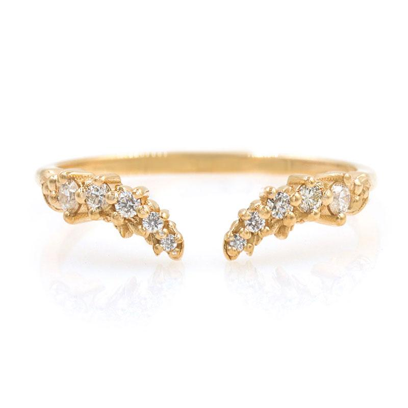 Diamond Cluster Cuff Ring - LoveAudryRose.com