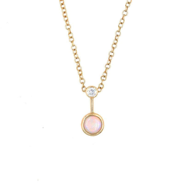 Opal Diamond Level Necklace - LoveAudryRose.com