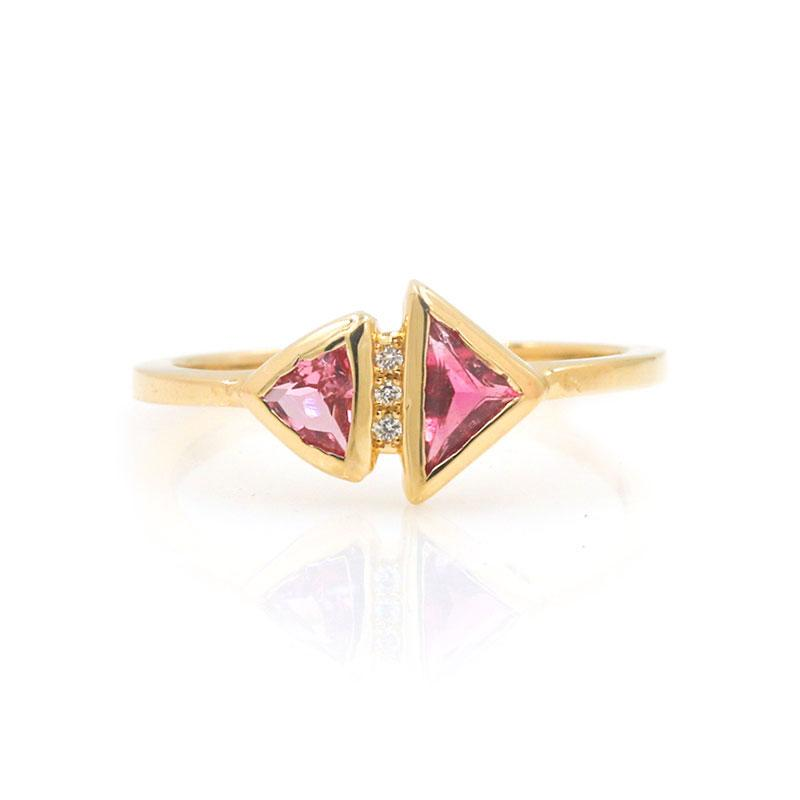 Pink Tourmaline Reflect Ring