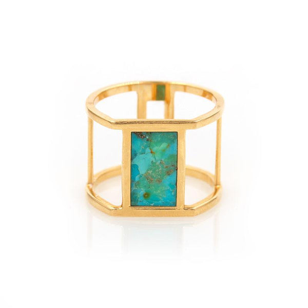 Turquoise Diamond Reflection Ring