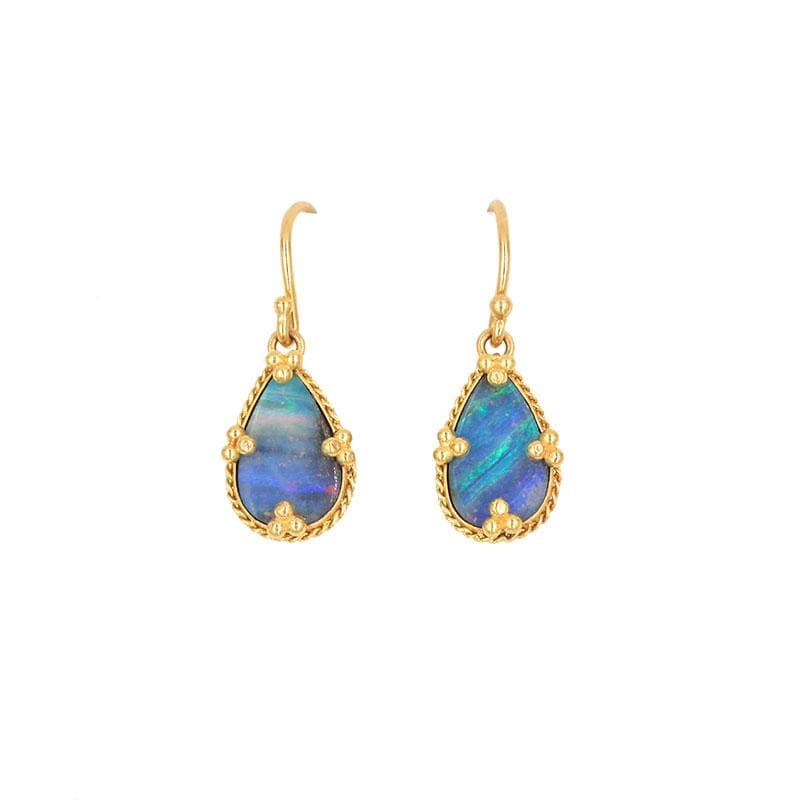 18k Current of Calm Opal Earrings