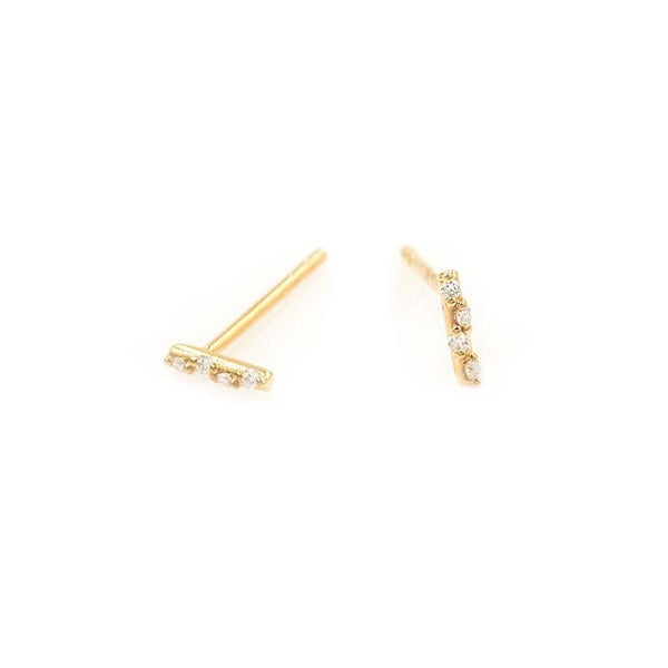 Starry Diamond Bar Studs