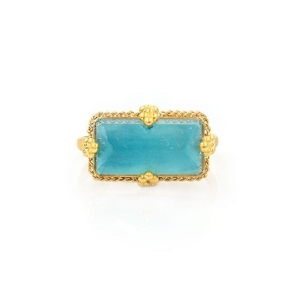 18k Fountain of Youth Aquamarine Ring