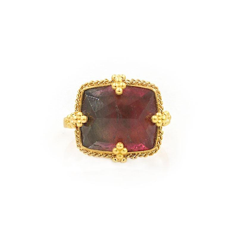 18k Bordeaux Tourmaline Ring