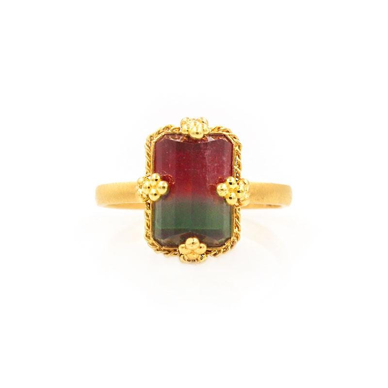 18k Art of Tourmaline Ring