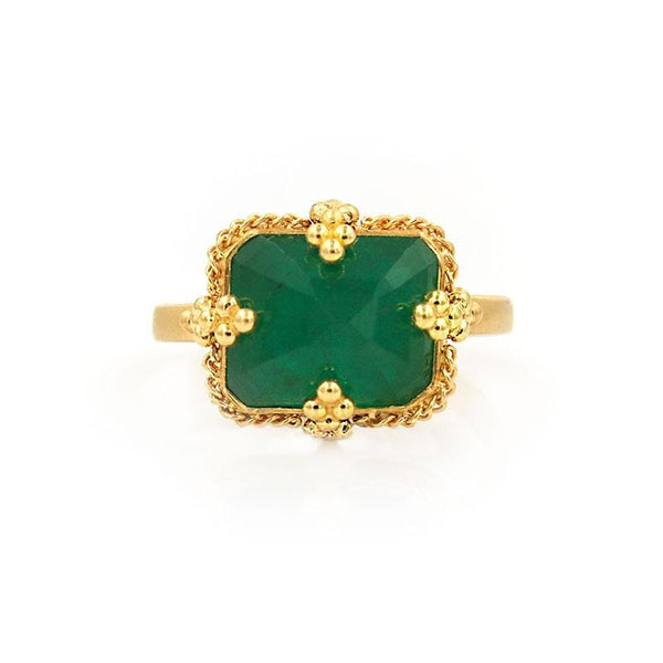 18k Emerald Idol Ring