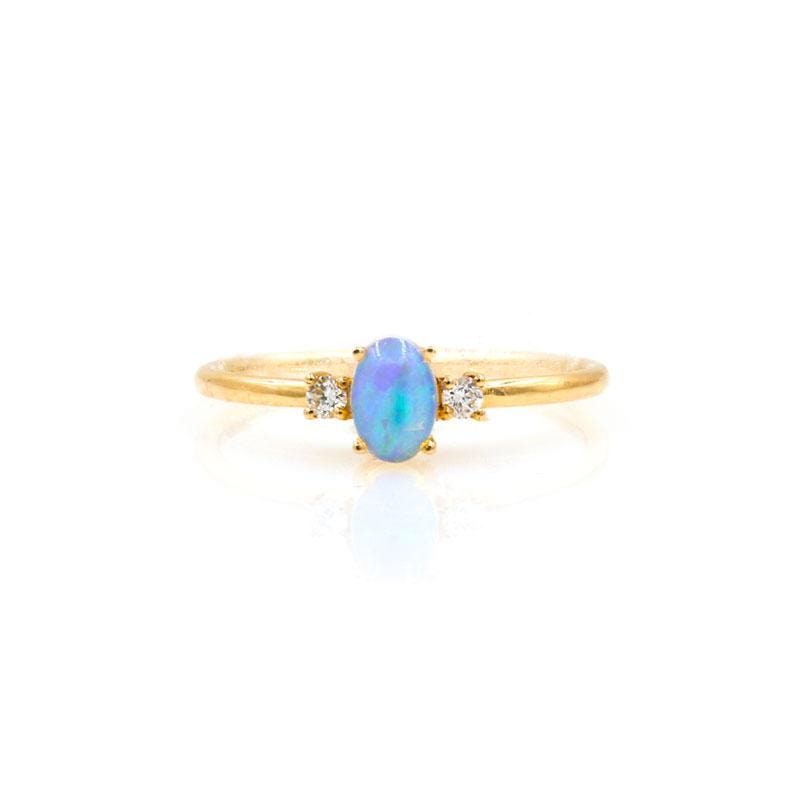 Opal Diamond Azure Ring