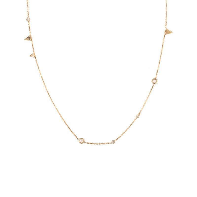 Sticks and Stones Diamond Necklace