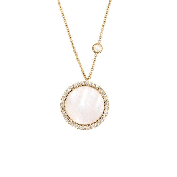 Mother of Pearl Halo Necklace - LoveAudryRose.com