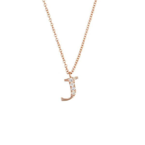 Diamond Initial Necklace - LoveAudryRose.com