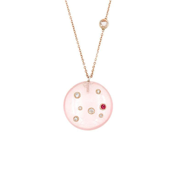 Rose Quartz Constellation Necklace