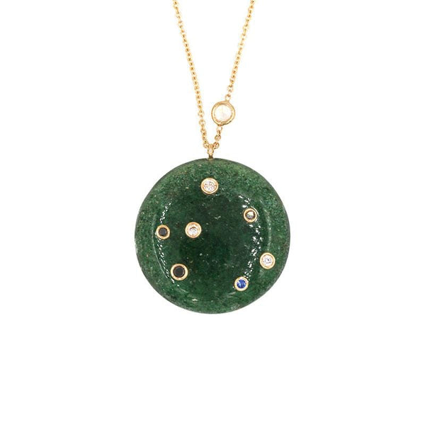 Green Onyx Constellation Necklace