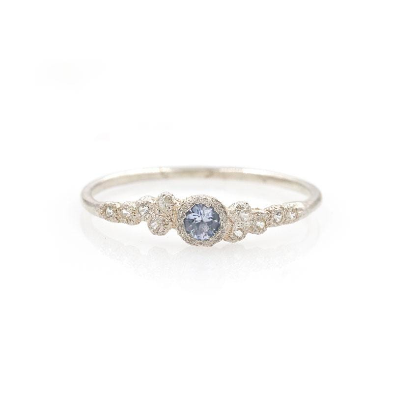 Silver Moon Sapphire Ring
