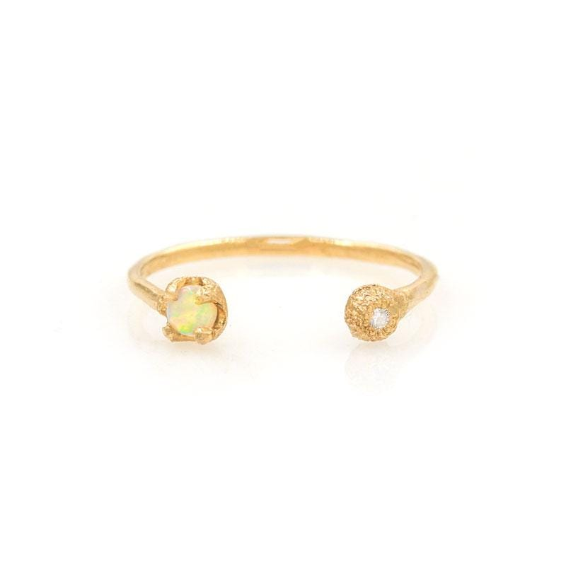 Solstice Opal Diamond Cuff Ring