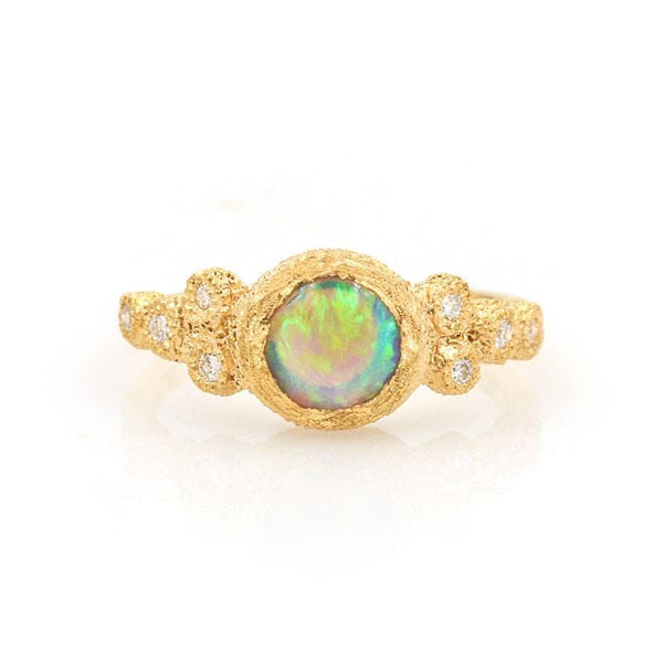 Supernova Opal Diamond Ring