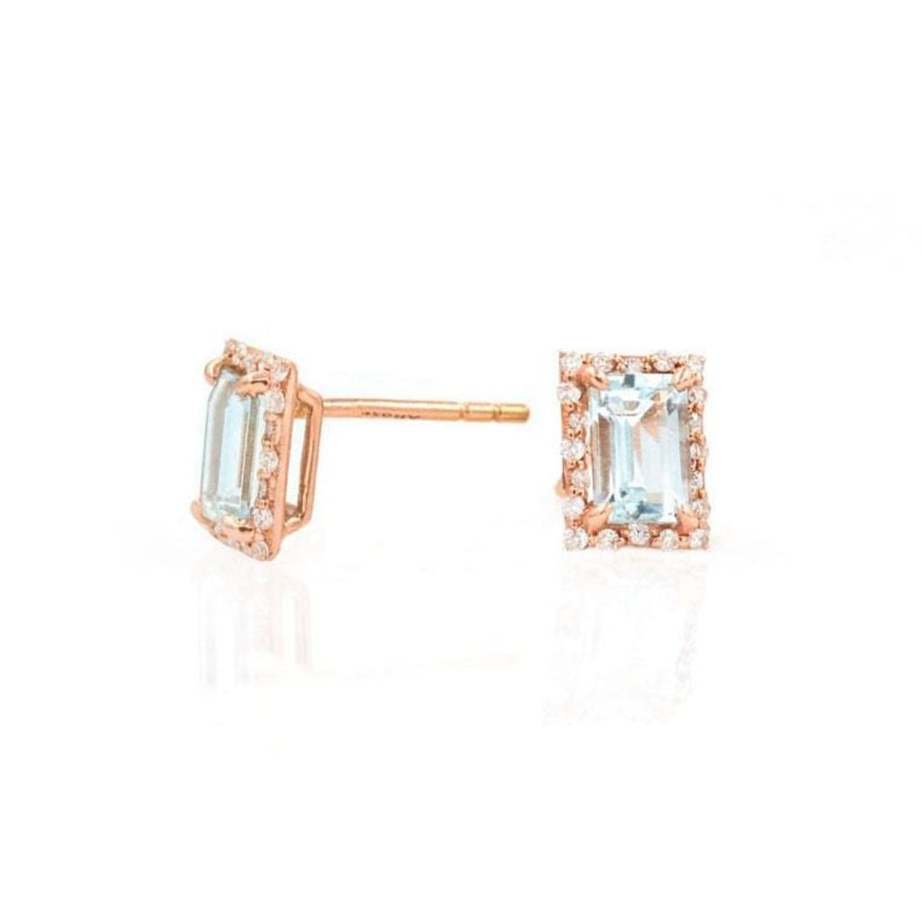 Starry Aquamarine Studs