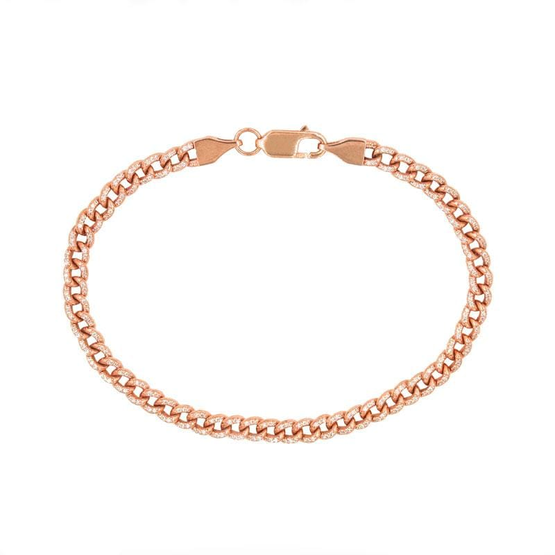 Diamond Pavé Curb Chain Bracelet