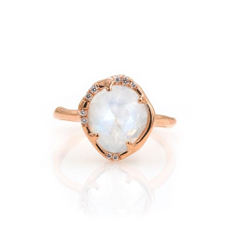 Rainbow Moonstone Aphenos Ring