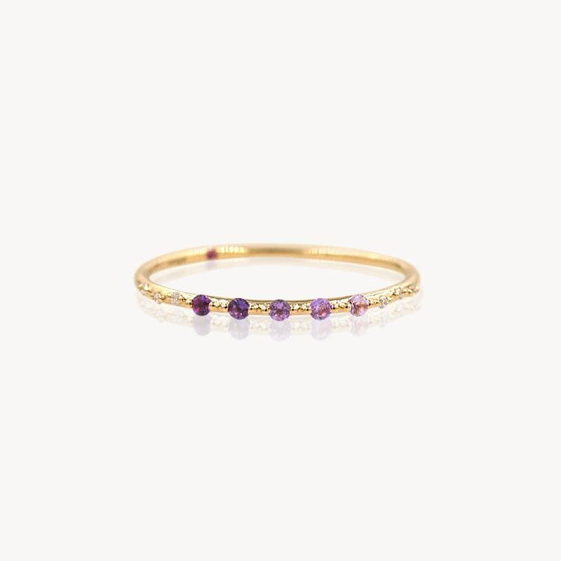 Starry Amethyst Ombré Band
