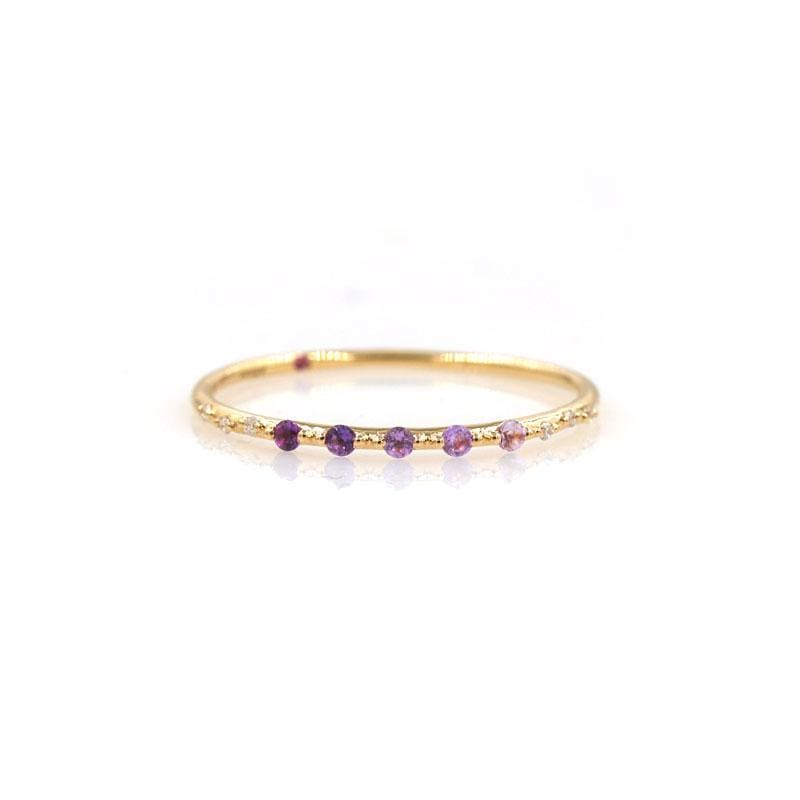 Starry Amethyst Ombré Band***