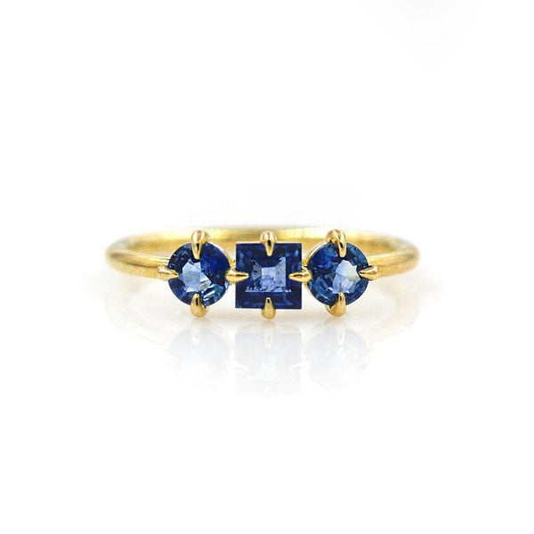 Prong Set Sapphire Trilogy Ring