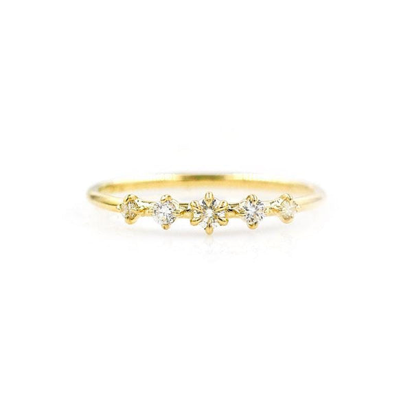 Prong Set Five Diamond Ring