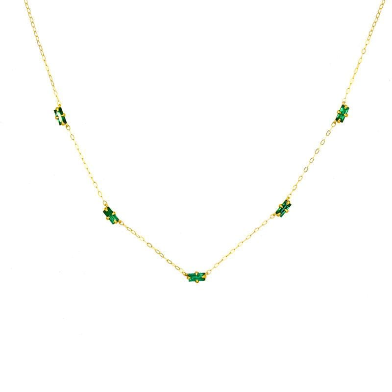 Emerald Baguette Necklace