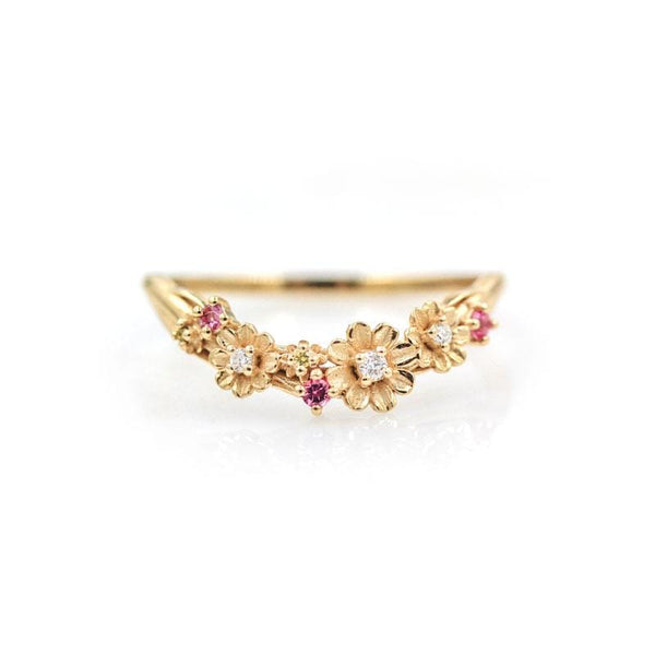 Diamond Tourmaline Cosmos Flower Band