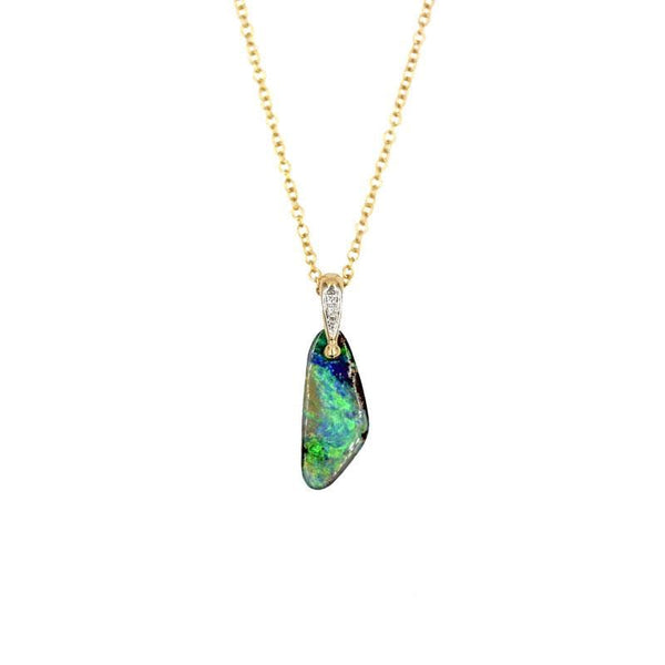 Earth Baby Boulder Opal Necklace