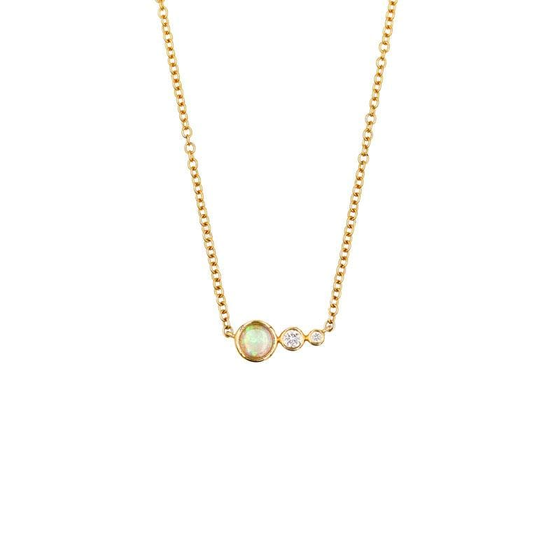 Opal Diamond Cascade Necklace