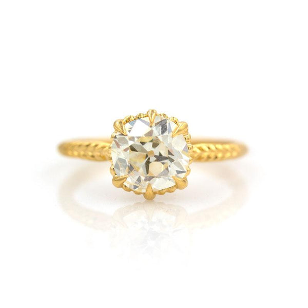 18k Antique Diamond Solitaire Ring