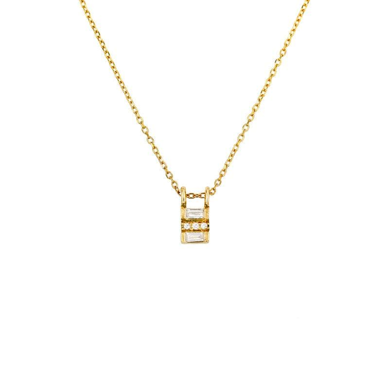 Diamond Baguette Equilibrium Necklace