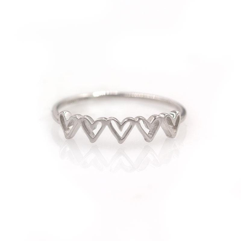 Five Hearts Ring