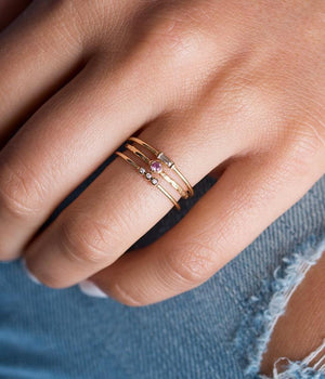 Triple Bezel Ring