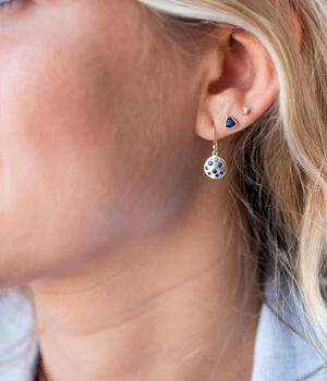 Trillion Blue Sapphire Earrings