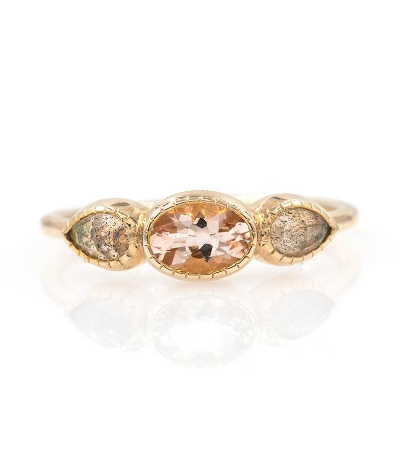 Morganite Iris Ring