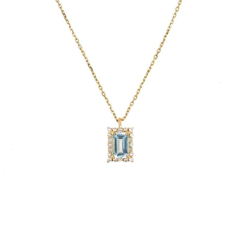 Starry Aquamarine Necklace