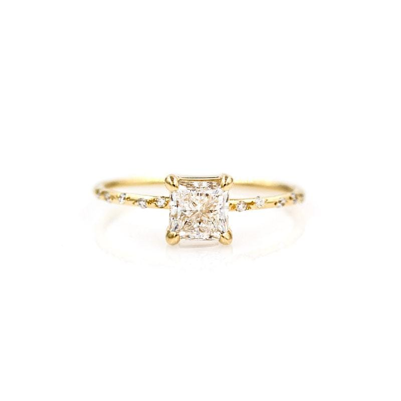 Starry Princess Cut Diamond Ring