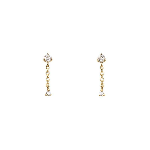 Double Diamond Chain Studs