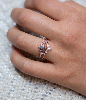Hexagon Diamond Snowflake Ring