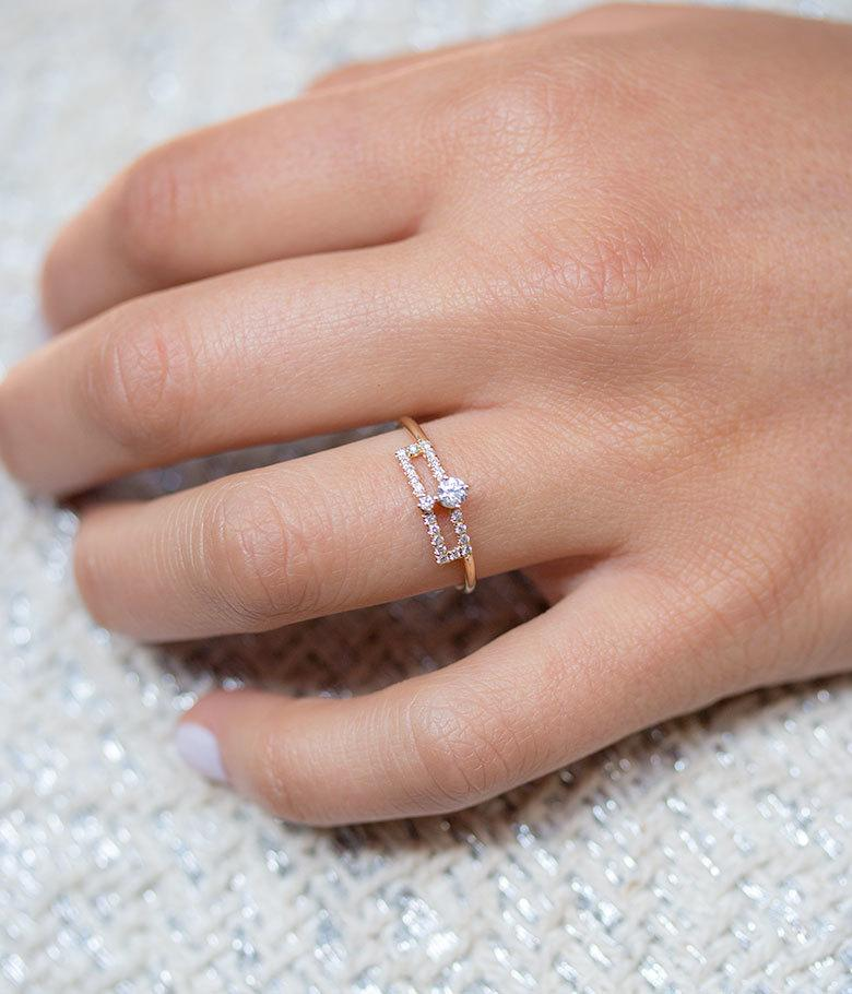 Double Layered Diamond Ring