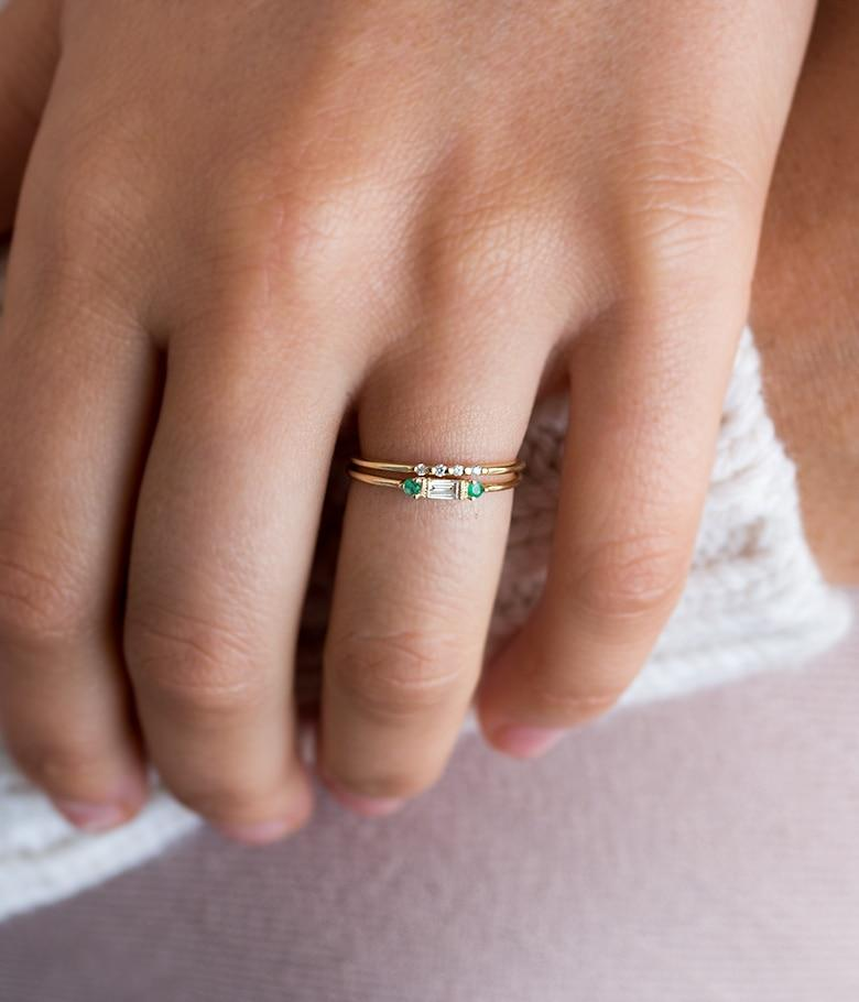 Emerald Diamond Stack