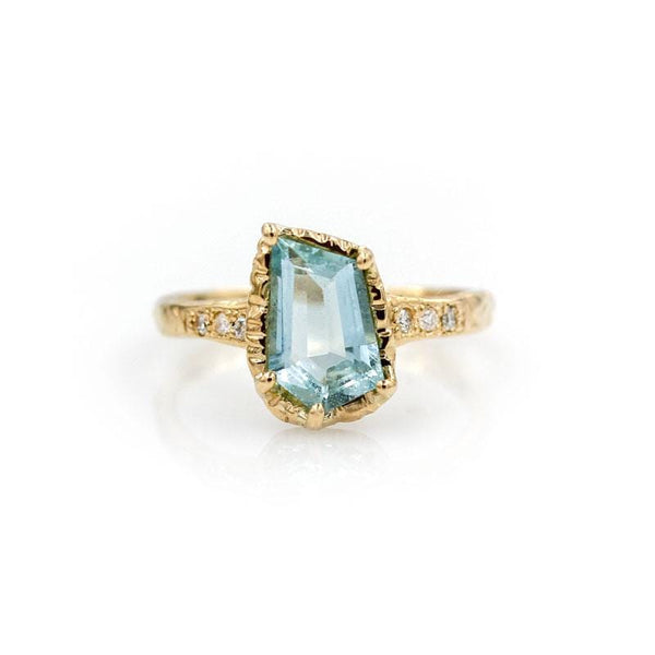 Aquamarine Guardian Grace Ring