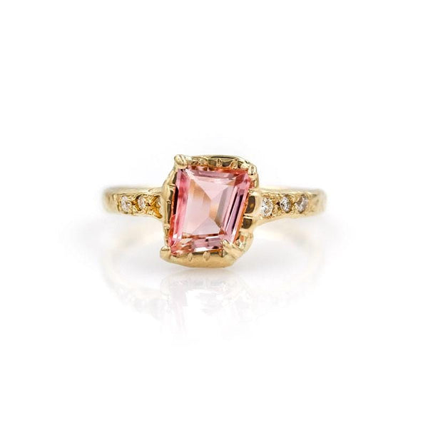 Pink Tourmaline Guardian Ring