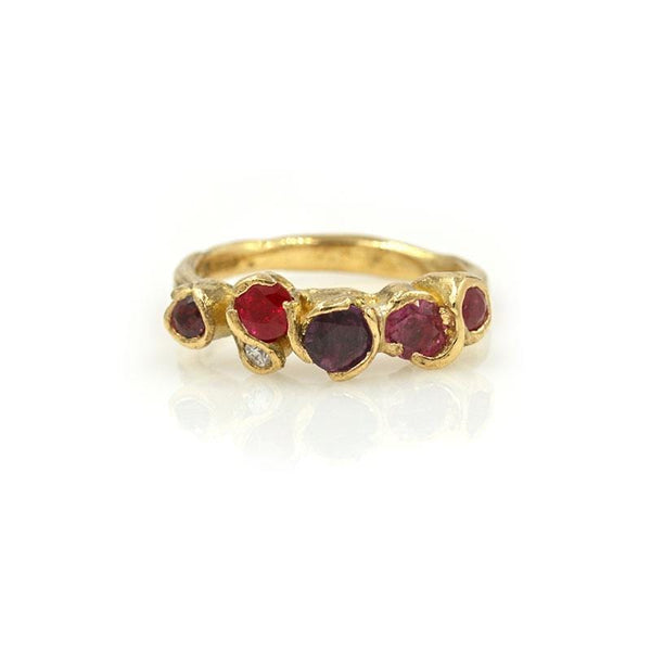 Red Ruby Seaweed Ring - LoveAudryRose.com