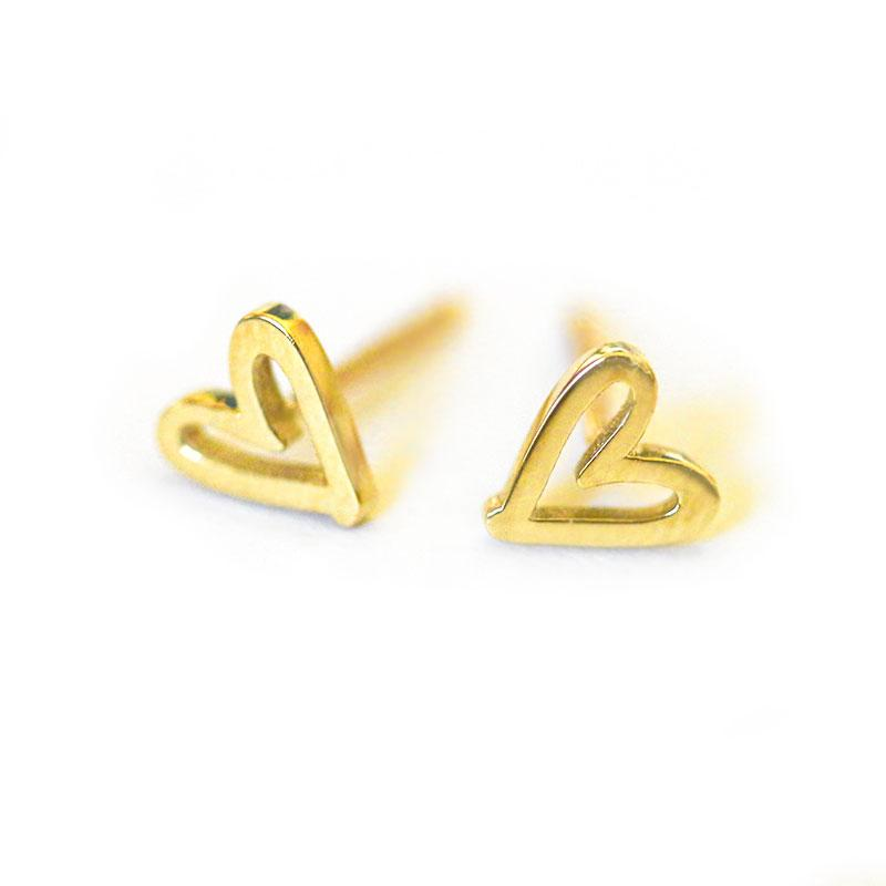 Golden Heart Studs - LoveAudryRose.com