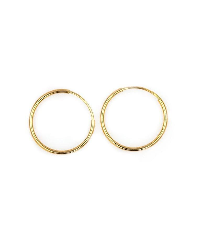 18mm Golden Hoop Earrings - LoveAudryRose.com