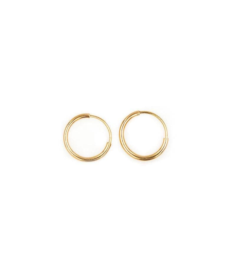 10mm Golden Hoops