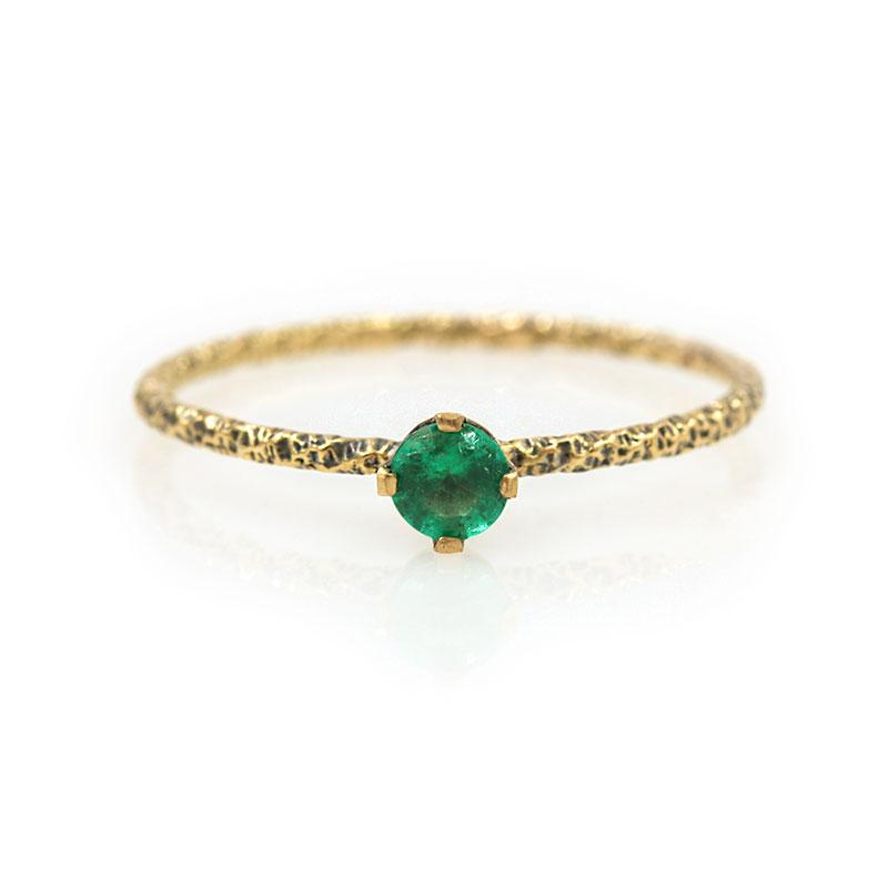 18k Twisted Emerald Ring - LoveAudryRose.com